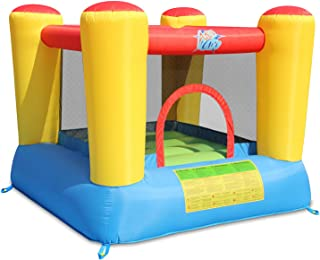 ACTION AIR Bounce House, 6.6x6.6 Foot Inflatable Bounce House with Blower, Kids Bouncy House for Outdoor and Indoor, Durable Sewn with Extra Thick Material, Idea for Kids (9420)