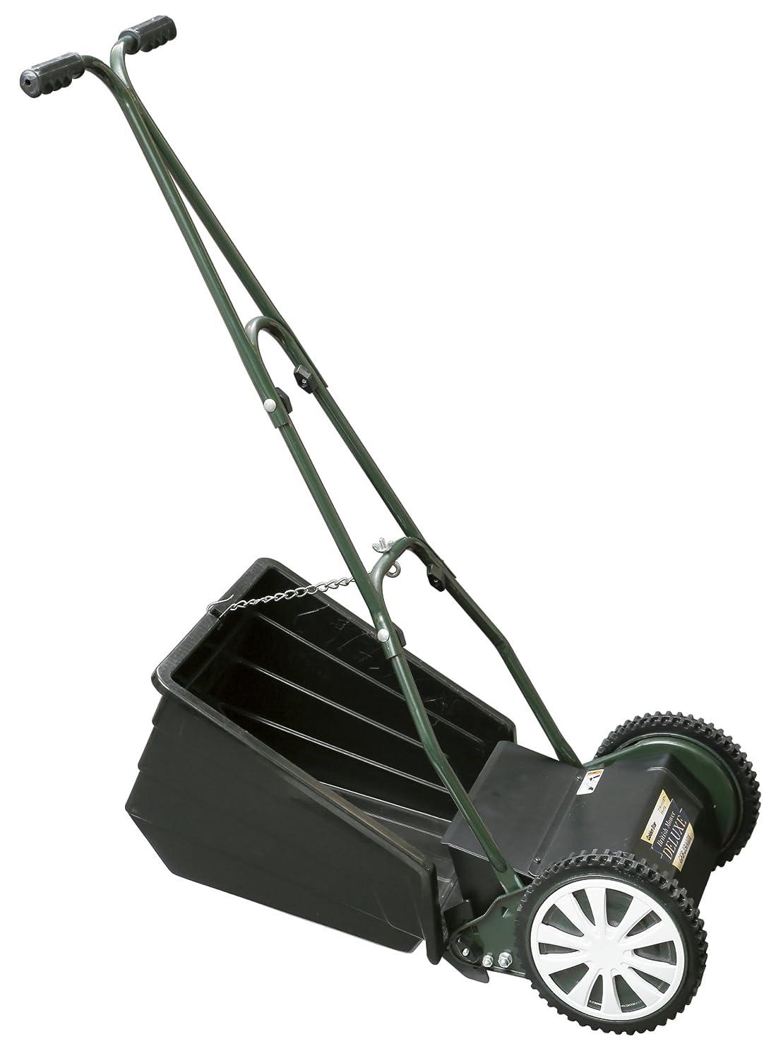 傀儡マイクロ宣伝ゴールデンスター 「安心?安全?日本製」刃研ぎのできる最高級手動芝刈機 ブリティッシュモアーデラックス GFB-2500DX