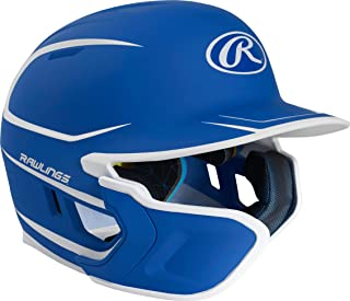 Rawlings Mach EXT Batting Helmet, Royal Blue, Left Handed Batter