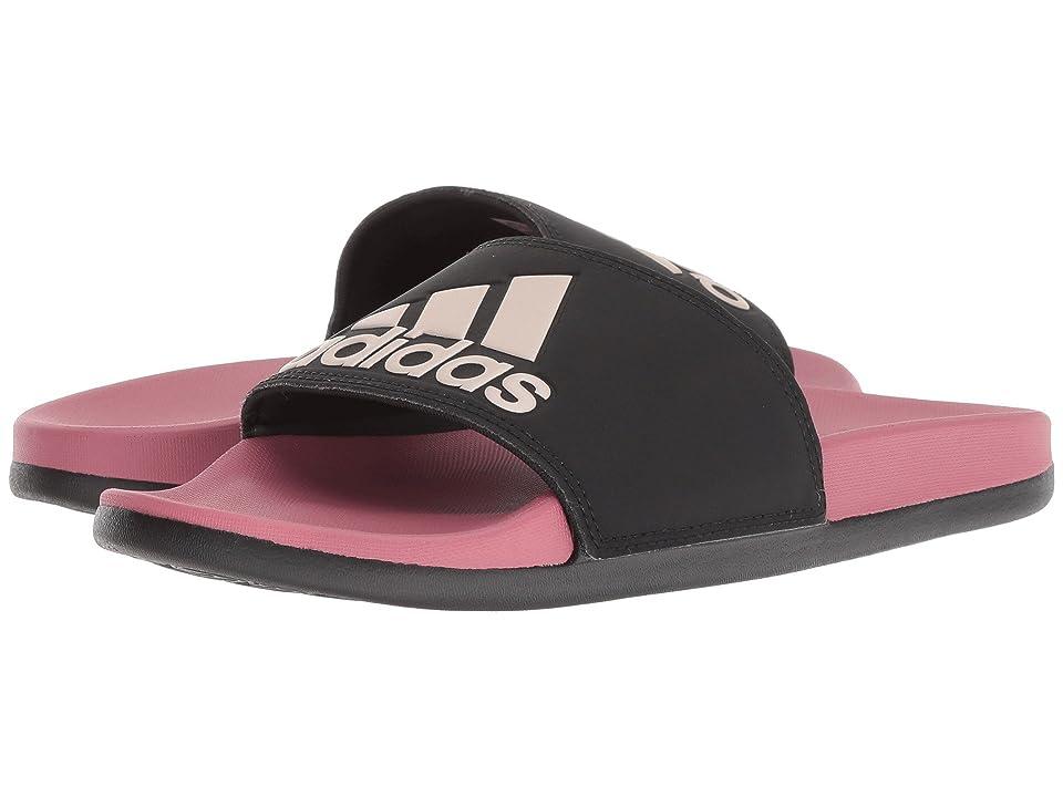 adidas Adilette Comfort (Black/Vapor Grey Metallic/Trace Maroon) Women