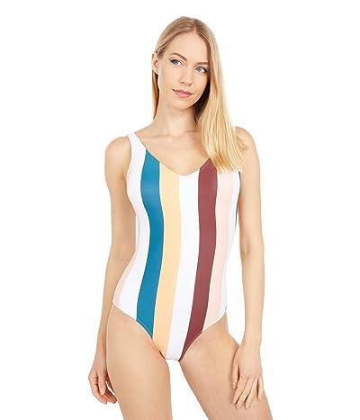 Roxy Holiday Jungle One-Piece Swimsuit (Andorra Warm Stripes) Women