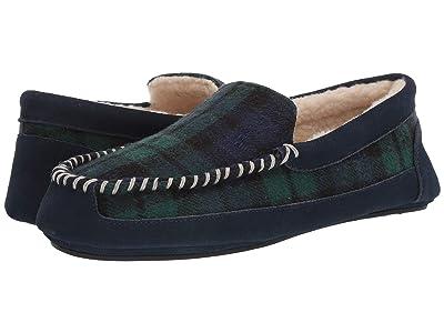 Polo Ralph Lauren Cali Slipper (Blue/Green Plaid) Men