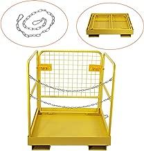BEAMNOVA Forklift Safety Cage Work Platform Collapsible Lift Basket Aerial Rails 36 x 36 Inch
