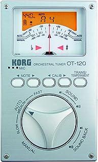 KORG クロマチックチューナー 針式メーター OT-120 吹奏楽 ブラスバンド オーケストラ どんなコンサート・ピッチにも対応 100時間連続稼働 ソフトケース付属