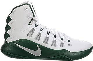 Nike Men's Hyperdunk 2016 White/Metallic Silver/Gorge Green Synthetic Basketball Shoes 13 M US