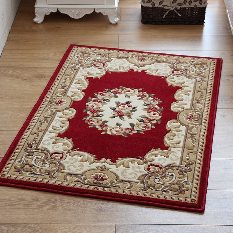 Doormat European Style,Cut Flowers,Living Room,Door,Indoor mats [Absorbent],Foot pad Bedroom,Bedside Blanket-A 80x120cm(31x47inch)