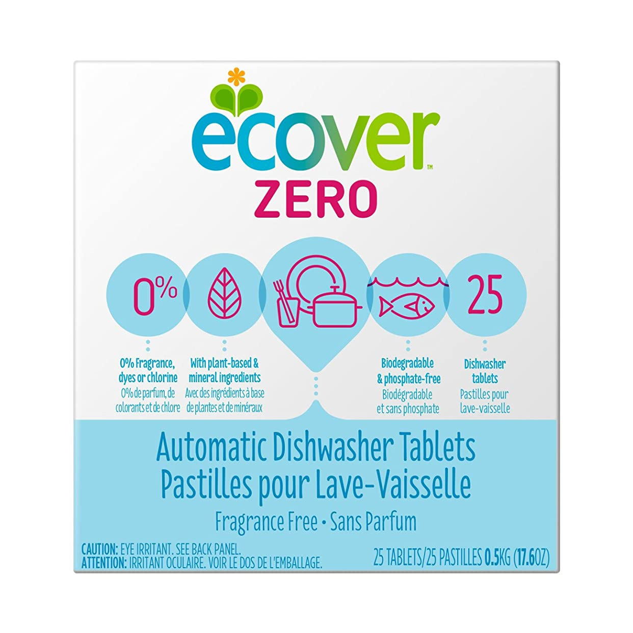 インゲンかる麻痺海外直送品Zero Automatic Dishwasher Tablets, 17.6 OZ by Ecover
