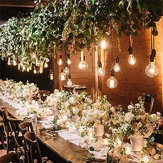 テラスパティオクリスマスウェディングパーティー装飾のための屋外LEDストリングライト、10個のLED電球やIP44防水ストリングライト、 10m