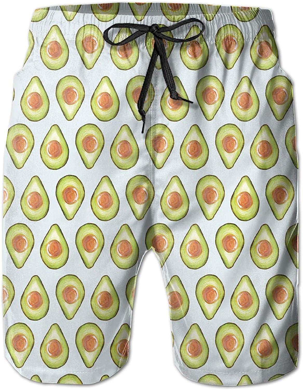 d3dc34e6419 Linxher Avocado Vegan Vegan Vegan Fruit Men's Swim Trunks Quick Dry Beach  Holiday Party Swim Shorts 6149cd