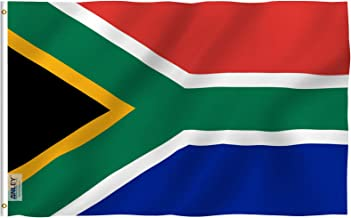 Anley Fly Breeze 3x5 Foot South Africa Flag - Vivid Color and UV Fade Resistant - Canvas Header and Double Stitched - South African National Flags Polyester with Brass Grommets 3 X 5 Ft