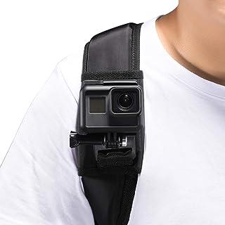 Mochila correa para el hombro montaje con 360 grados de rotación ajustable hebilla de gancho gancho y correa de cierre Compatible with GoPro Hero (2018) 7 6 5 4 3+ Session