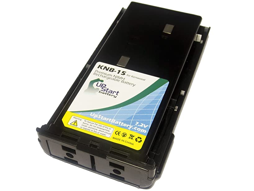 Kenwood KNB-15 Two-Way Radio Battery Replacement (1300mAh, 7.2V, NI-MH) - Compatible with KNB-14, KNB-14A, KNB-15, KNB-15A, KNB-15H, TK-260, TK-260G, TK-270, TK-270G, TK-272, TK-272G, TK-278, TK-278G, TK-360, TK-370, TK-370G, TK-372, TK-372G, TK-373, TK-378, TK-378G, TK-388, TK-388G, TK-2100, TK-2102, TK-2107, TK-3100, TK-3101, TK-3102, TK-3107