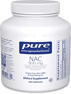 Pure Encapsulations NAC 900 mg | N-Acetyl Cysteine Amino Acid Supplement for Lung and Immune Support, Liver, Antioxidants,...
