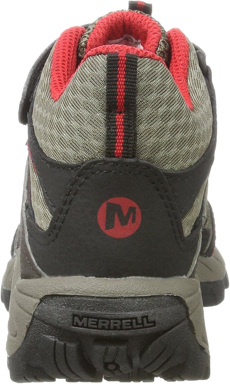 Merrell Boys/' Hilltop Mid Quick-Close High Rise Hiking Boots
