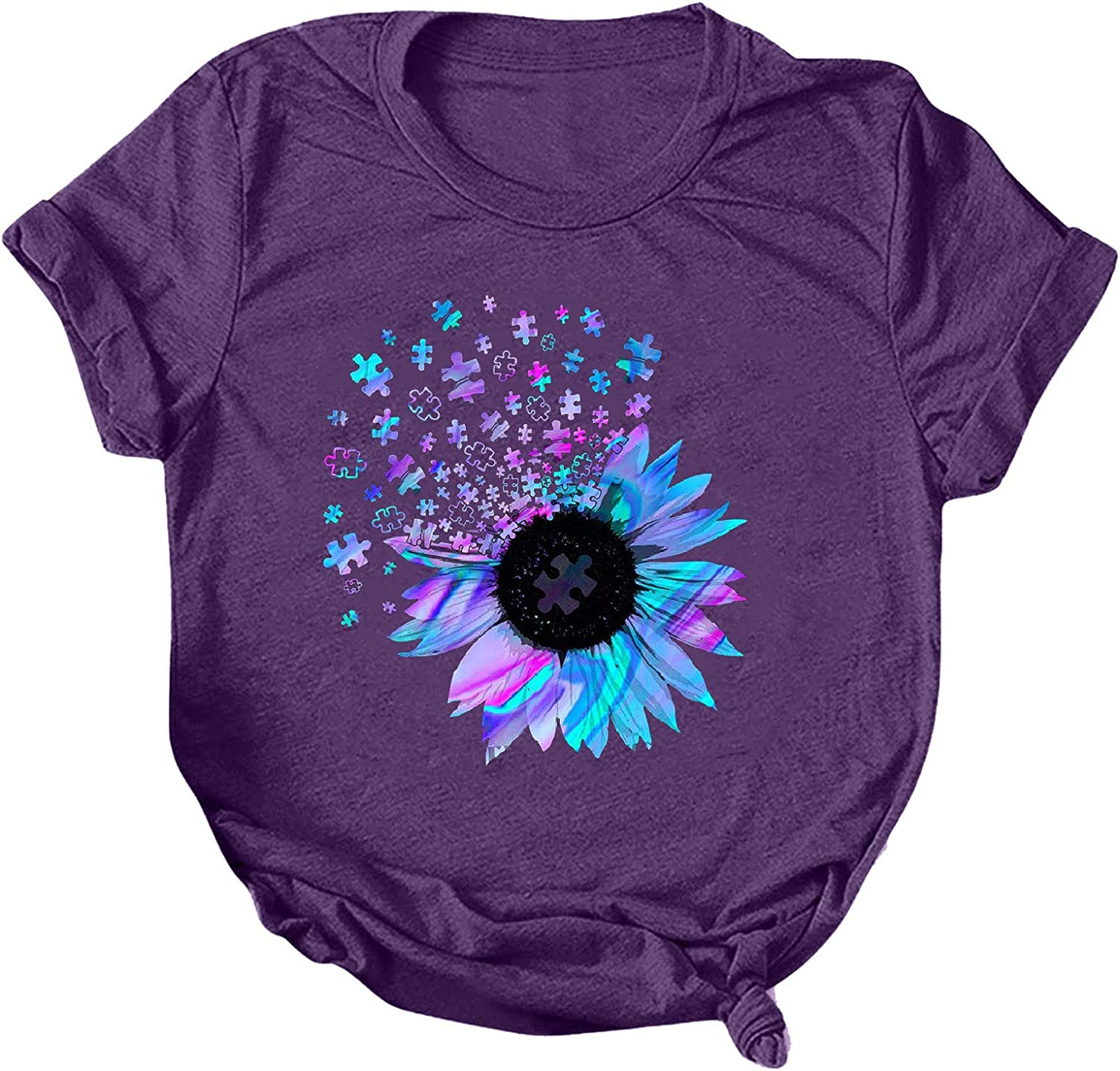 Womens Tops and Blouses Clearance Womens Valentines Day Shirts Plaid Love Heart Graphic T Shirts Leopard Print Short Sleeve Tee Top Purple