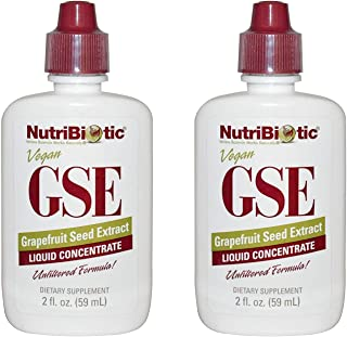 2 Pack GSE Liquid Concentrate Grapefruit Seed Extract 10 Drops 200 Serving 2 fl oz 59 ml