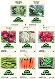 Premium Winter Vegetable Seeds Collection Certified Organic Non-GMO Heirloom Seeds Broccoli, Beet, Carrot, Cauliflower, Gr...