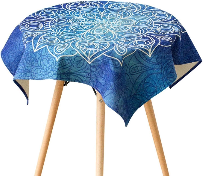 À hommeger nappe Drap de lin Table ronde Tablette à hommeger Table basse Toile unique (taille facultative) durable (taille   140100cm)