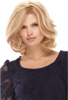 Royalfirst Wigs for Women Blonde Hair Medium Length Wavy Curly Synthetic Hair Full Wigs