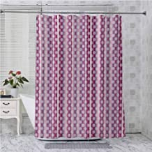Aishare Store - Cortinas de ducha para baño, diseño de código de barras, diseño de lunares, color blanco
