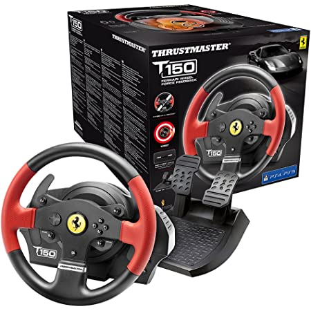 Thrustmaster T150 Ferrari Edizione (Volante incl. 2-Pedali, Force Feedback, 270° - 1080°, PS4 / PS3 / PC)