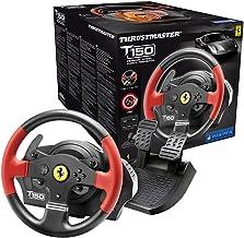 Thrustmaster 262787 T150 Ferrari Wheel Force Feedback Stuurwiel En Pedalen Voor Pc/Playstation 4/Playstation 3, Zwart/Rood Pc