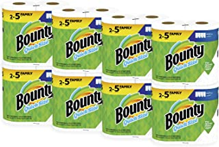 Bounty Quick-Size Paper Towels, 16 Family Rolls, White