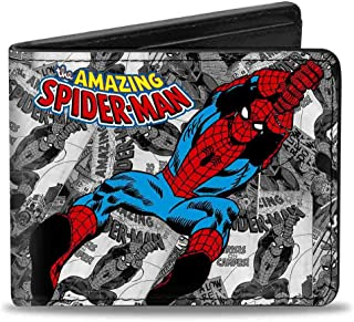 Buckle-Down Marvel Comics Wallet The Amazing Spider-man Stacked Comic B Accessory