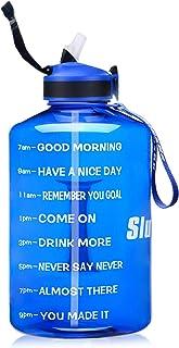 SLUXKE 3,78 L/2,2 L vattenflaska motiverande sportvattenflaska med tidmarkör, BPA-fri, läcktät, återanvändbar stor fitness...