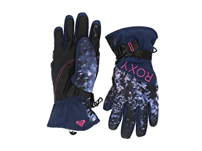 Roxy Jetty Snow Gloves (Medieval Blue Sparkles) Ski Gloves