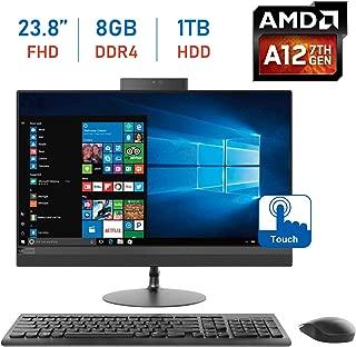 Lenovo Ideacentre Premium 520 23.8-inch 1920 x 1080 Touchscreen All-in-One Desktop PC, AMD A12-9720P 2.7GHz, 8GB DDR4, 1TB 7200RPM HDD, 802.11ac WiFi, Radeon R7, HDMI, DVD-RW, Bluetooth, Windows 10