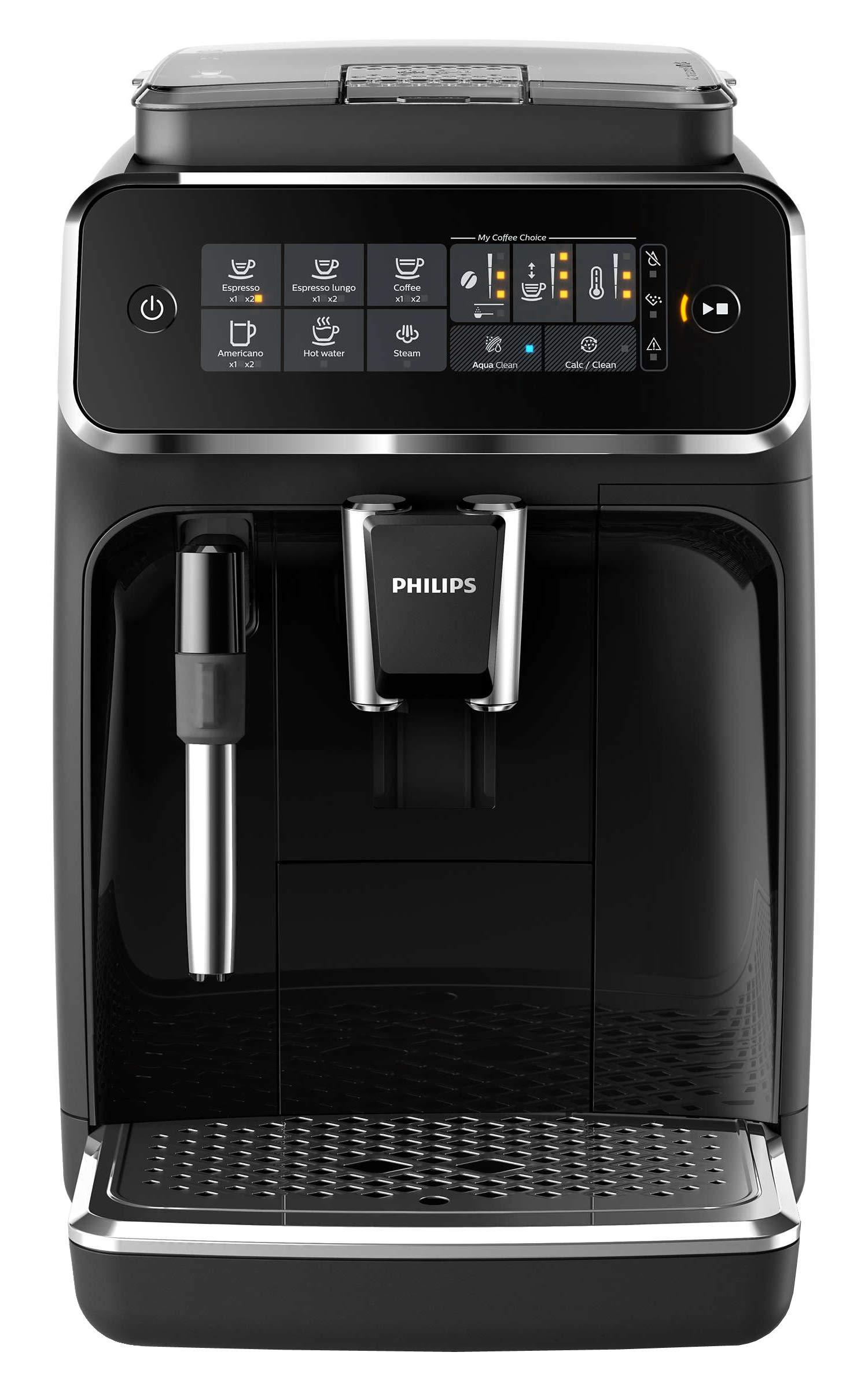 Philips EP3221/40- Cafetera Espresso Automática, 15 bares, 230V, Tecnología AquaClean, 12 Tazas, Deposito de Agua 1,8L: Amazon.es: Hogar