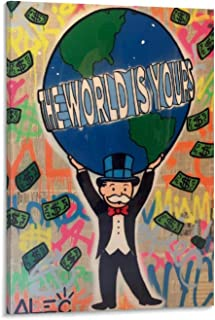 SHEFEI ALEC Monopoly The World is Yours Poster Decorative Painting Canvas Wall Art Living Room Posters Bedroom Painting 24x36inch(60x90cm)