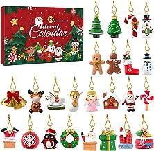 Ornamentos de pendurar para árvore de Natal Garneck, calendário de contagem regressiva de Natal 2020, 24 enfeites de árvor...