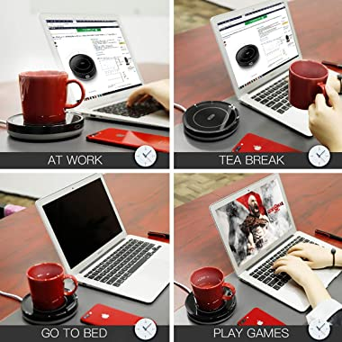 Smart Coffee Warmer, BESTINNKITS Auto On/Off Gravity-induction Mug Warmer for Office Desk Use, Candle Wax Cup Warmer Heating