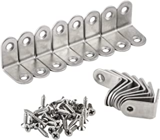 16 Packs L Bracket 30 x 30mm Corner Braces,YMAISS Stainless Steel Joint Right Angle Shelf Support Bracket with Screws