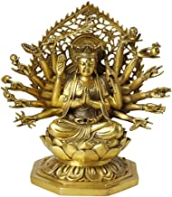 Home Accessories Buddha Statue Decoration, Goddess Guan Yin Thousand Hands Guanyin Tibetan Meditation Buddhist Religious P...
