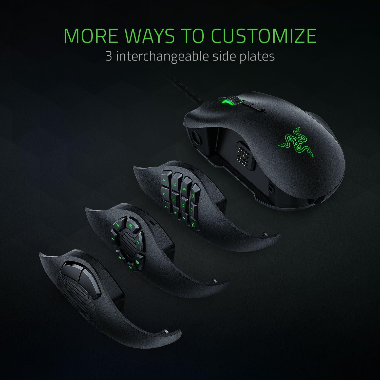 Razer Naga Trinity Gaming Mouse: 16,000 DPI Optical Sensor & Sphex V2 Gaming Mouse Pad: Ultra-Thin Form Factor - Optimized Gaming Surface - Polycarbonate Finish
