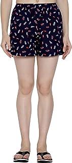 AVMP Printed Women Multicolor Regular Shorts (SH-01-Navy Blue)