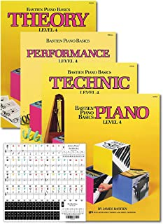 Bastien Piano Basics Level 4 Learning Set By Bastien - Lesson, Theory, Performance, Technique & Artistry Books & Juliet Mu...