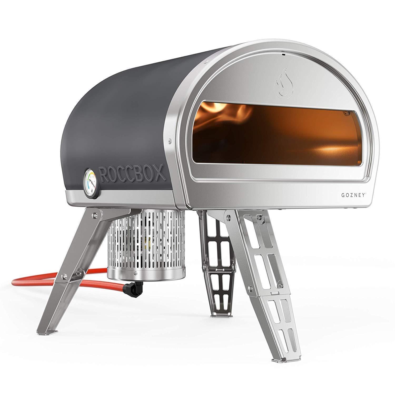 ROCCBOX Horno Portátil de Exteriories para Pizza - Calentado a Gas o a Leña, Doble Combustible, Horno de Exteriores para Pizza de Fuego y Piedra: Amazon.es: Jardín