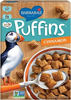 Barbara's Bakery Puffins Cereal, Cinnamon, 10 Ounce,Pack of 1