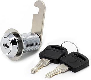 HSeaMall Veiligheid postvakslot, roestvrij staal, kast, kast, kast, nokkenslot met dezelfde sleutel, 16 mm