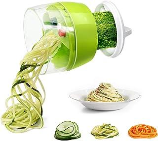 Mini Coupe Légumes Spirale, Fun Life Trancheuse Spiralizer, avec Handheld tournant Good Grips- commutable 3 lames pour Mot...