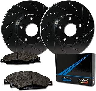 Max Brakes Front Elite Brake Kit [ E-Coated Slotted Drilled Rotors + Metallic Pads ] TA052781 Fits: 11-14 Chrysler 200   08-12 Avenger & Caliber   07-15 Patriot & Compass   08-15 Lancer & Outlander