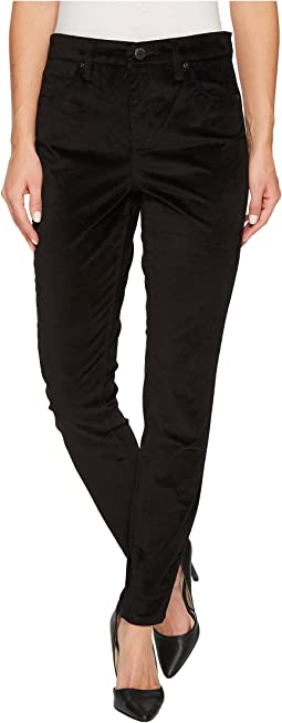 Blank NYC - Black Velveteen Skinny in Raven Feather