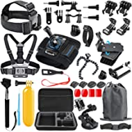SmilePowo 48-in-1 Accessories Kit for GoPro Hero 7 6 5 4 3/3+ 2 1 GoPro 2018 Session/Fusion Black...