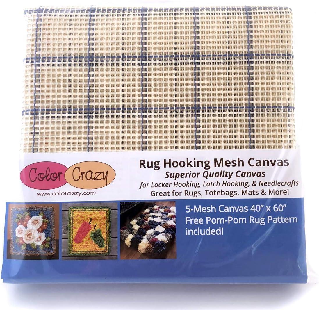 Rug Atlanta Mall Hooking Mesh Canvas - 5 Pattern Free x 60