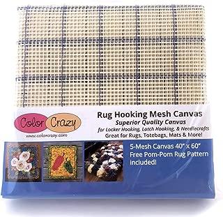 Rug Hooking Mesh Canvas - 5 Mesh (40