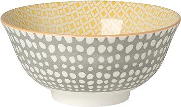 Now Designs Akita Stamped Bowl, Gray, Set of 6